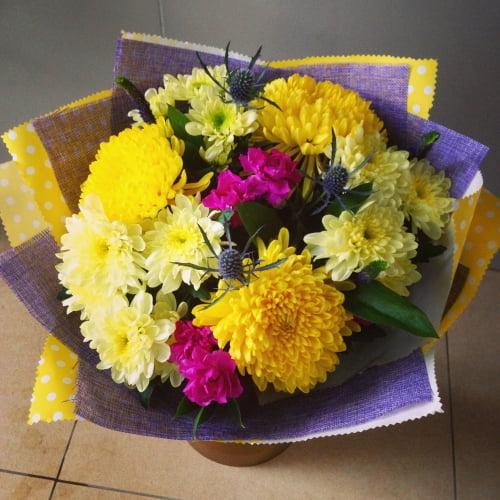 №91 букет с хризантемой